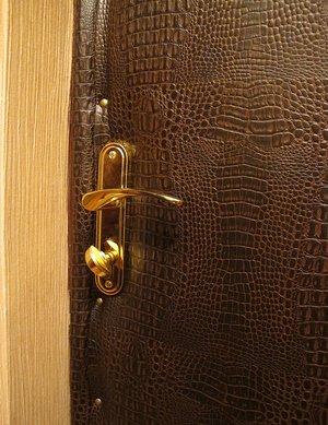 Как производят утепление входной двери