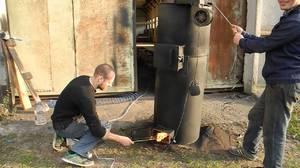 Самодельные котлы длительного горения на дровах