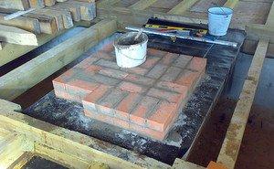 Печь для дома из кирпича с плитой – особенности укладки