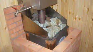Как обложить печку в бане