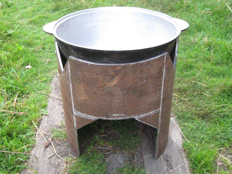 Садовая печь для казана своими руками 915