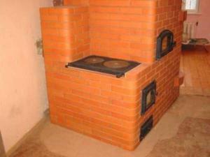 Кирпичная печь длительного горения на дровах своими руками