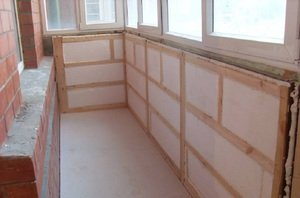 Утеплительные работы на лоджии и балконе