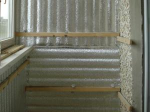Как самим утеплить стены балкона