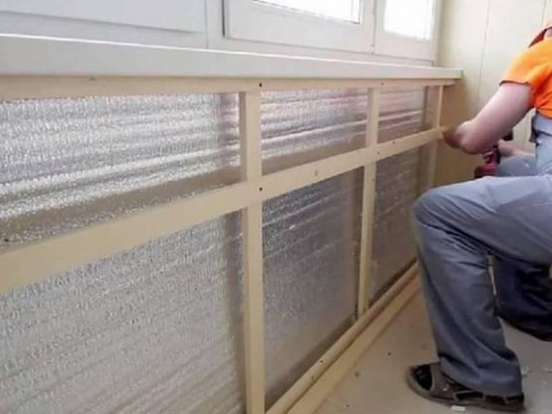Утепление лоджии не сыреет ли стена.