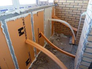 Утепление балкона пенопластом своими руками видео технология 599
