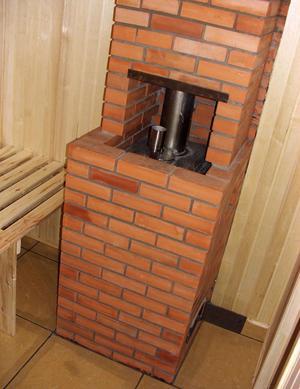 Печь банная с закрытой каменкой