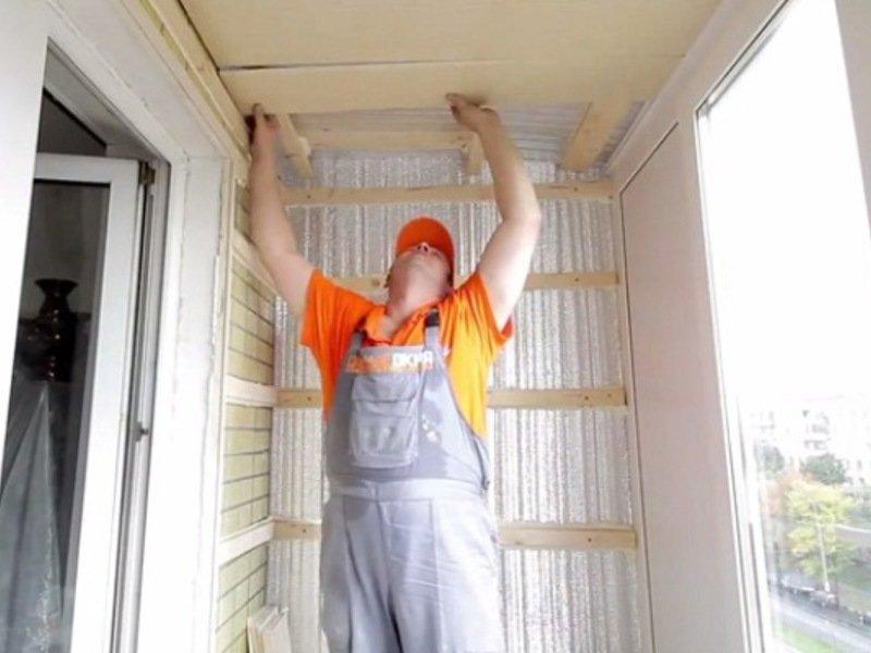 Утепление балкона и отделка своими руками