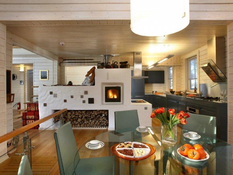 Современный дом с русской печкой