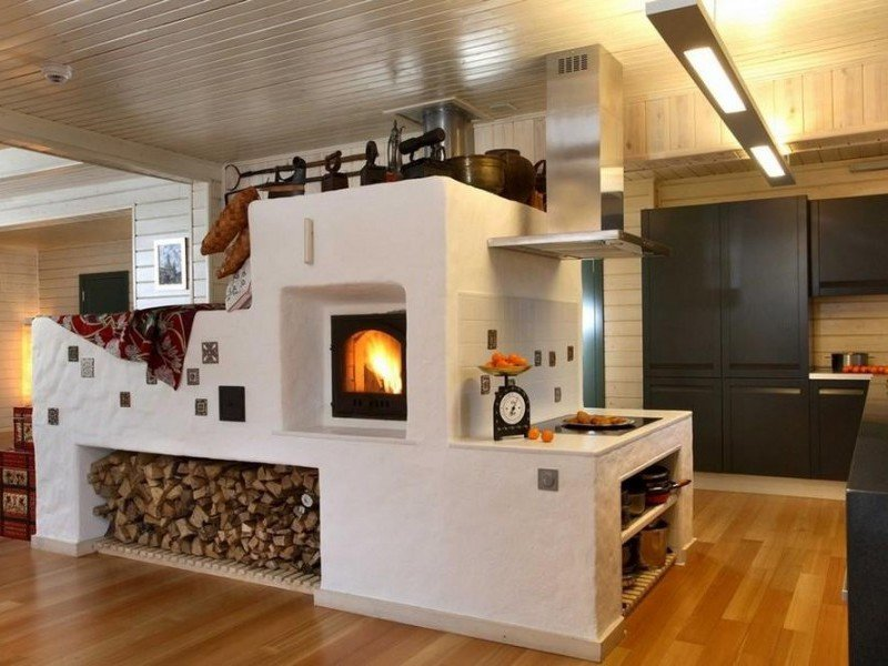 Русская кирпичная печь в частном доме