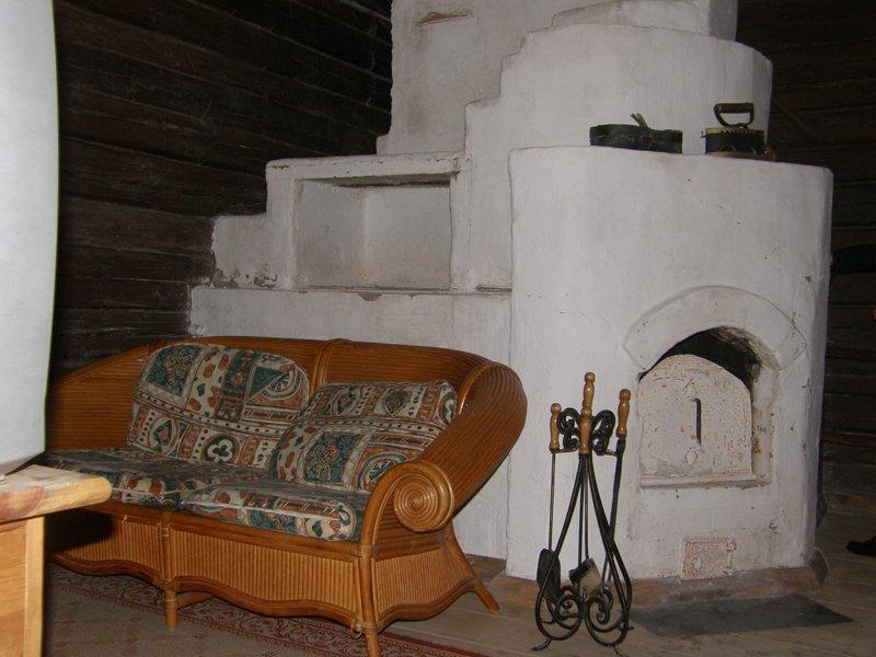 Проект интерьера с русской печкой