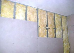 Утепление стен внутри дома минватой