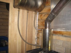 Трубы к баку с теплообменником теплообменник газа на очистку