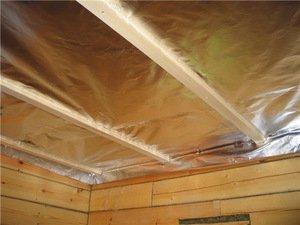 Утеплитель для потолка бани