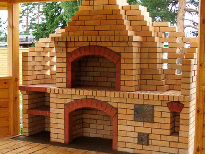 Печь барбекю на даче