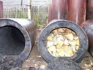 Печь для производства древесный уголь своими руками фото 498