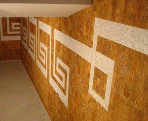 Пробковое покрытие для утепления внутренних стен