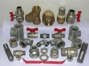Запорная арматура важна для создания водопровода.