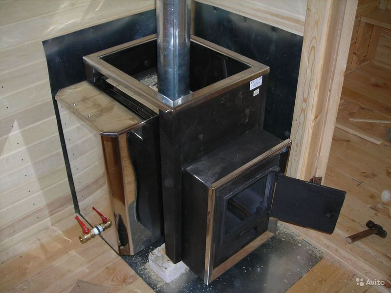 Печка в баню своими руками из железа
