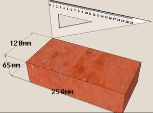 Огнеупорный кирпич стандартные размеры