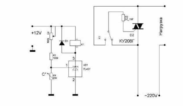 Простая схема терморегулятора
