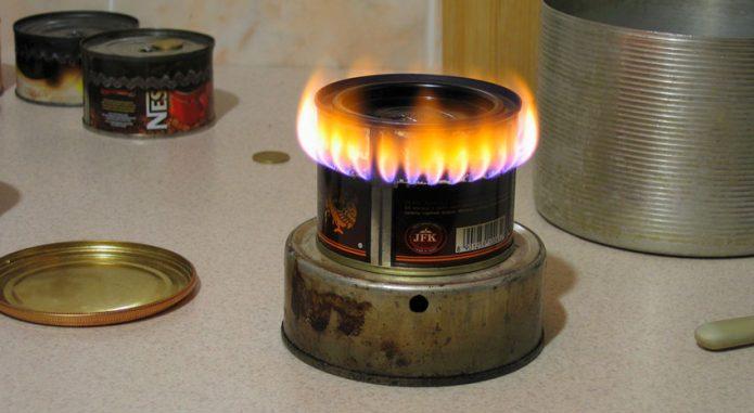 Бензиновая горелка из консервной банки
