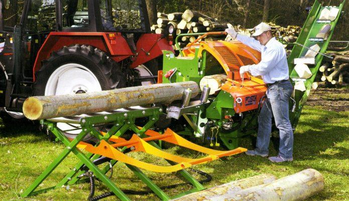 Тракторный дровокол с приводом
