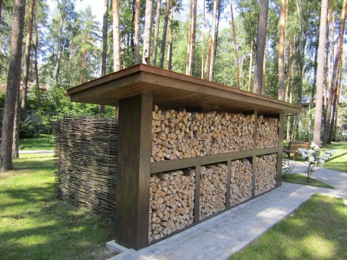 Поленица для дров