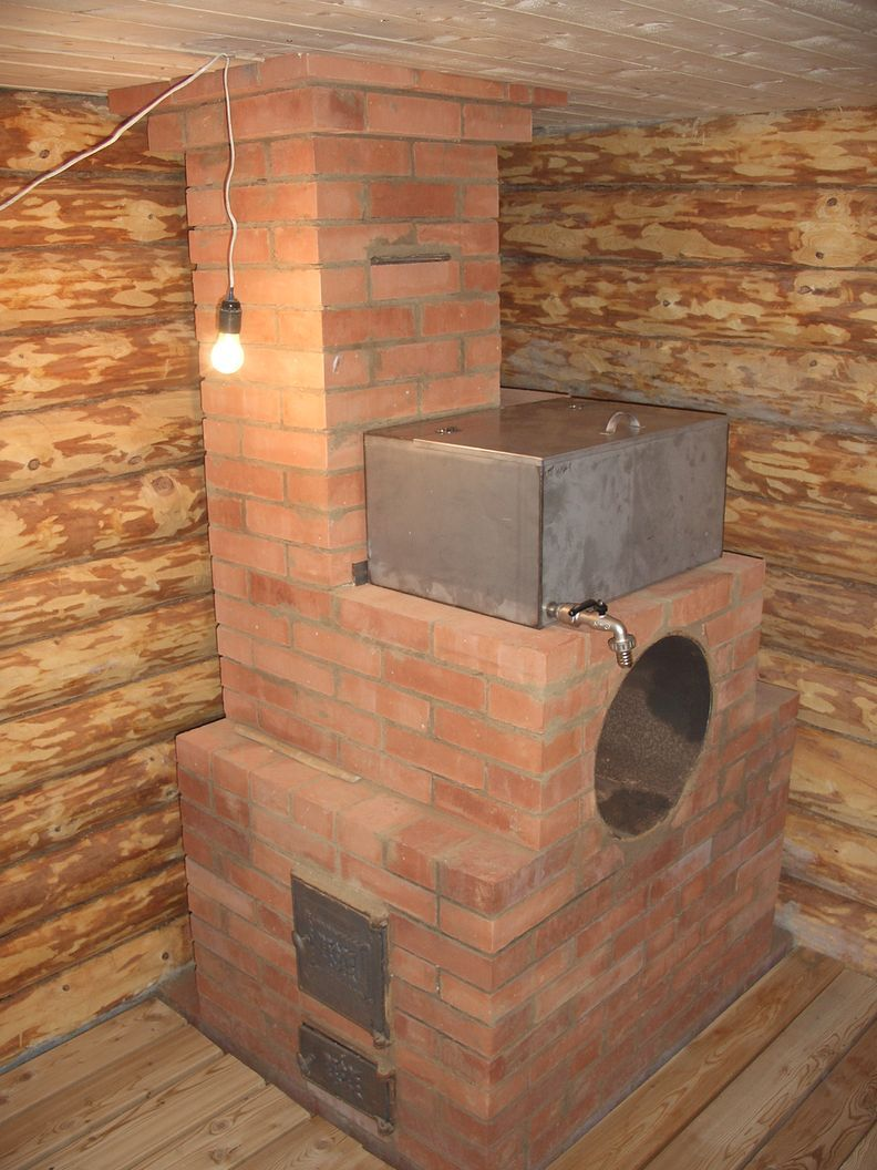 Кирпичная печь для бани: проекты и порядовка