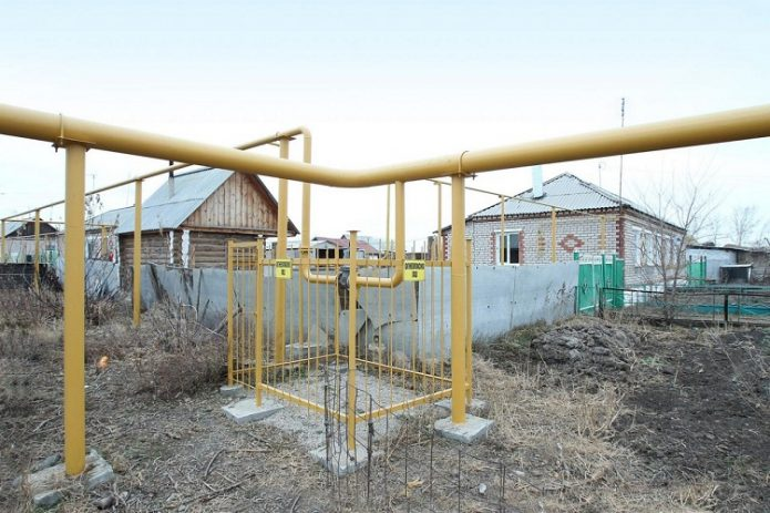 Надземный газопровод